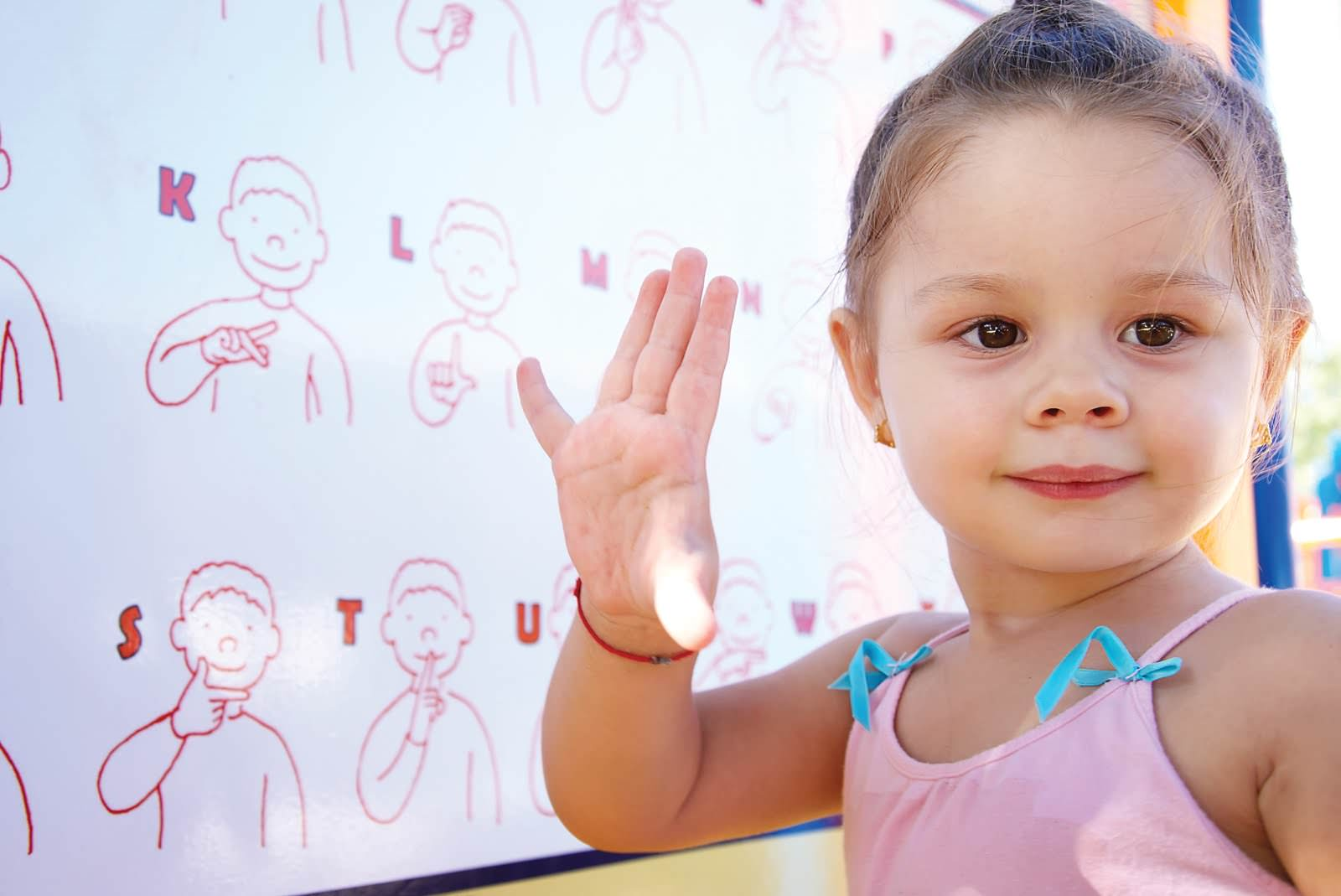 Язык жестов для детей