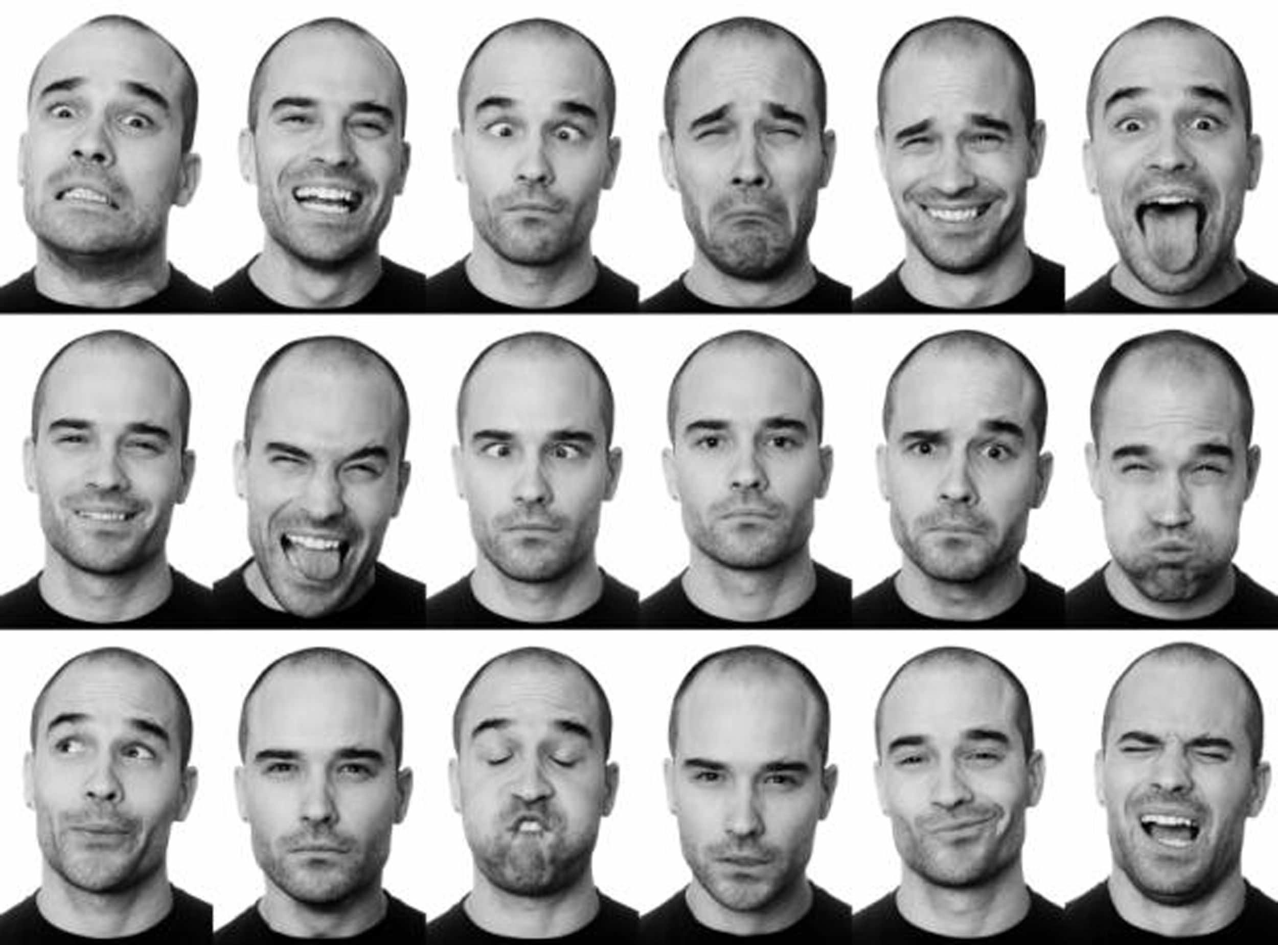 Мимика и эмоции у мужчины